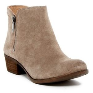 Lucky Breah Booties in Brindle/Tan/Neutral Color